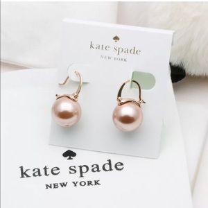 💎NEW Kate Spade Champagne Pearl Drop Earrings